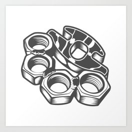 "Fashion Modern Design Print ""Brass Knuckles""! Rap, Hip Hop, Rock style and more Art Print"