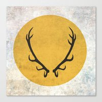 game of thrones Canvas Prints featuring Baratheon Flag (Game of Thrones) by Goat Robot