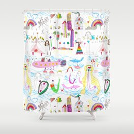 planeta jana Shower Curtain