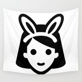 bunny ear girl emoji Wall Tapestry