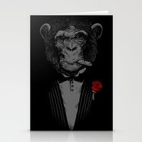 monkey Stationery Cards featuring Monkey Business by Alex Solis