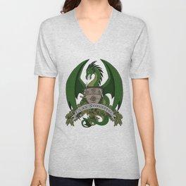 Clan Stonefire Green Dragon Crest Unisex V-Neck