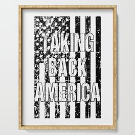 Taking Back America print American Flag product Serving Tray