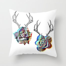TROPHIES AND ROSES Throw Pillow