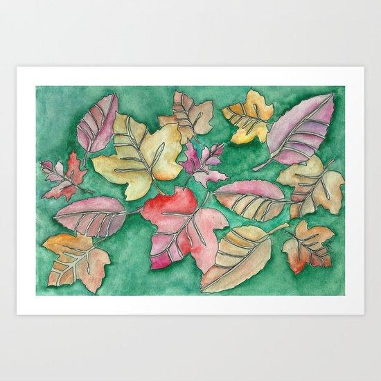 Fall Leaves Fall Art Print