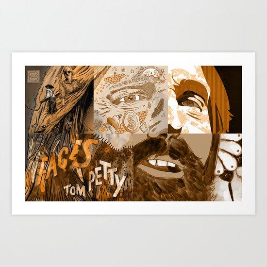 """Faces - Petty"" by Blackard, Boehm, Fiche, Livengood, & McCarthy - Monochrome Art Print"