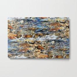Peaceful Soothing Waters Metal Print