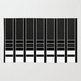 Modern Minimalist Black and White Stripes Rug