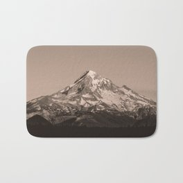 Mount Hood - Black and White - nature photography Bath Mat