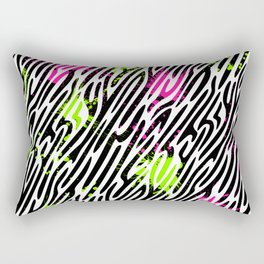 Wild Zebra Print Rectangular Pillow