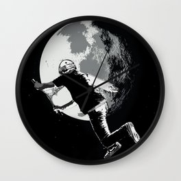 Tailing the Moon - Tail-whip Scooter Stunt Wall Clock