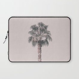Tropical Palm Tree In Pastel Pink Light Laptop Sleeve