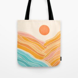 Adventure On The Horizon / Abstract Landscape Tote Bag