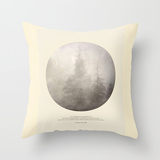 love the woods Throw Pillow