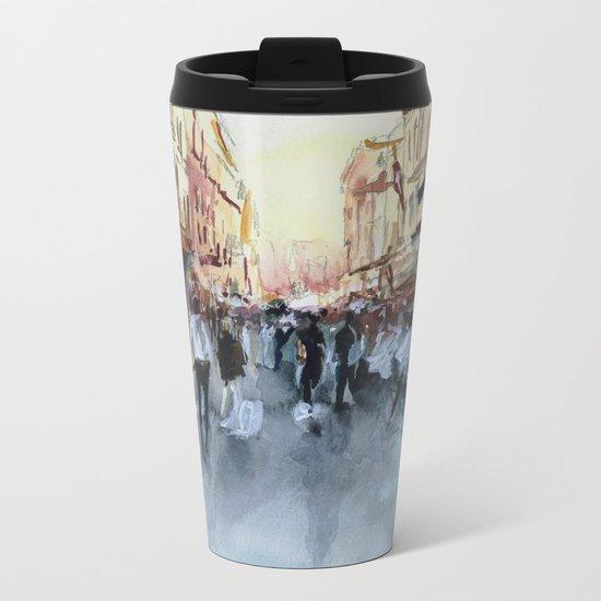 PARIS Street - Painting Metal Travel Mug