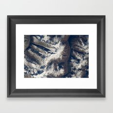 HIMALAYAS from International Space Station Framed Art Print