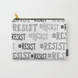 resist hashtag pattern Carry-All Pouch
