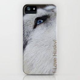 Husky eye iPhone Case