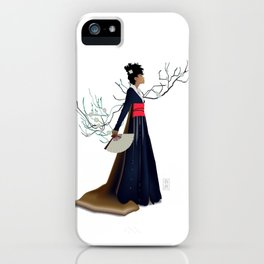 Modern Woman in Kimono iPhone Case