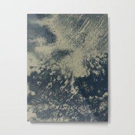 Camino de Sal, watercolor and salt painting  Metal Print