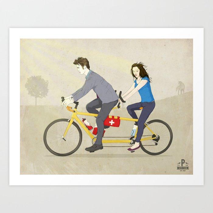 Hop on Spider Monkey Art Print