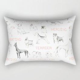 A Few Good Dogs Rectangular Pillow