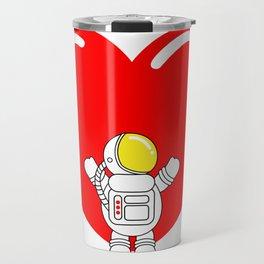Astro Heart | Love is All Around | Astronaut Hug Love | pulps of Travel Mug