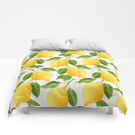 Watercolor Lemons Comforters