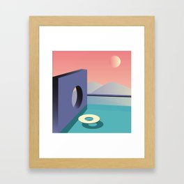 Calm pool  Framed Art Print