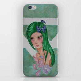 Element Series - Earth Spirit, Butterfly Flower Girl, Mother Nature Illustration iPhone Skin