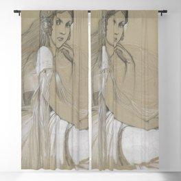 Alphonse Mucha - Portrait of Jaroslava Muchová (Daughter) Blackout Curtain