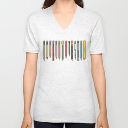 Vintage Pencil Collection Unisex V-Neck