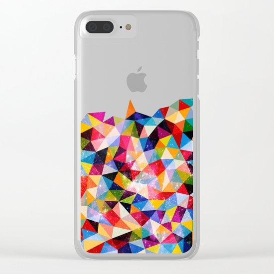 Space Shapes Clear iPhone Case
