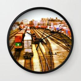 Rail Yard Wall Clock