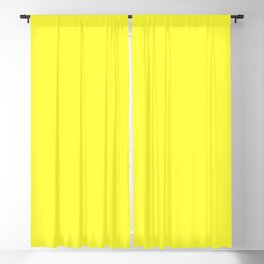NOW GLOWING YELLOW solid color  Blackout Curtain