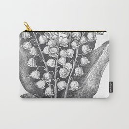 Vintage Snowdrops Carry-All Pouch