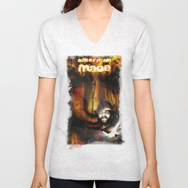 American Mage Cover  Unisex V-Neck