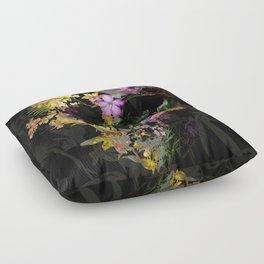 Spring Skull Floor Pillow