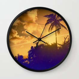 Sunset in the West Indies Wall Clock