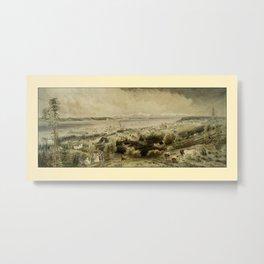 Seattle 1874 Metal Print