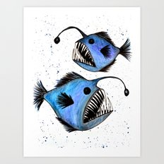 Anglerfish Art Print