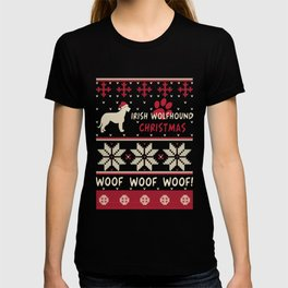 Irish Wolfhound christmas gift t-shirt for dog lovers T-shirt