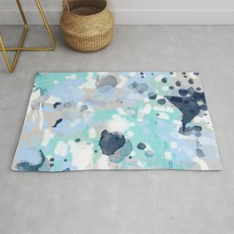 Riley - abstract gender neutral nursery home office dorm decor art abstract painting Rug