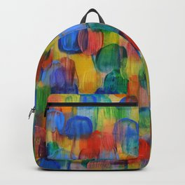 Abstract Color Art with Brushstrokes in Red, Blue, Yellow, Green Backpack