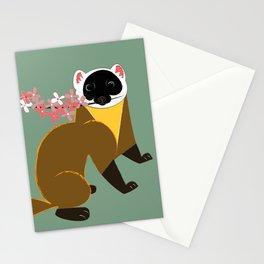 Sakura Japanese marten light green Stationery Cards
