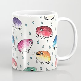 Round Rain Frogs Coffee Mug