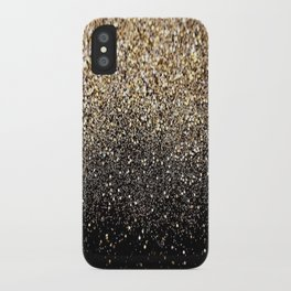 Black & Gold Sparkle iPhone Case