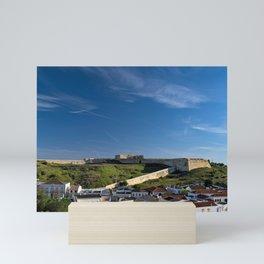 Saint Sebastian Fort and roofs in Portugal Mini Art Print