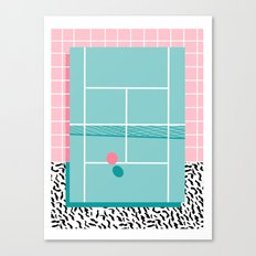 Baller - tennis sports retro pastel palm springs vacation athlete full court memphis style throwback Canvas Print
