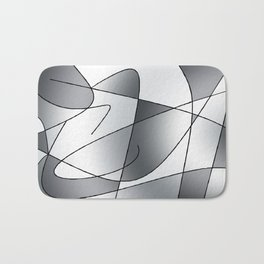 ABSTRACT CURVES #2 (Grays) Bath Mat